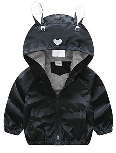 ARAUS Baby Jacke Junge Herbst Mantel mit Kapuze Baumwolle Hoodie Ohren Übegangs 2-9 Jahre Alt