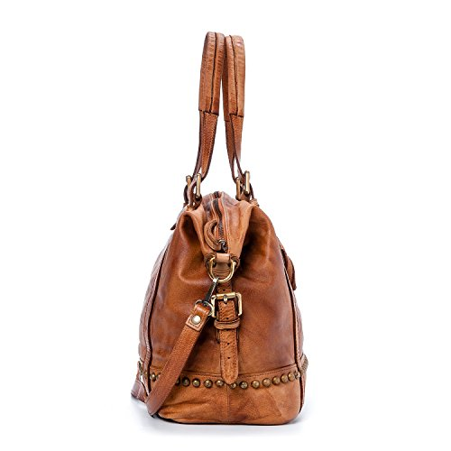 Ira del Valle, Borsa Donna, In Vera Pelle, Vintage, Modello Andalusia Bag, Made In Italy Cognac