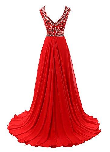 Bridal _ Mall Femme élégant Soirée Vêtements sol Long Strass Beading Prom Balle Vêtements Noir - Noir