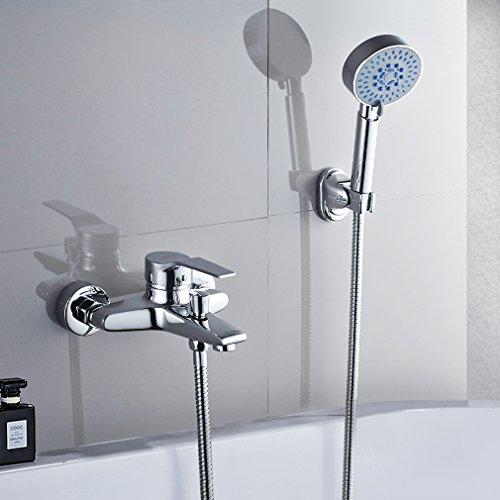 Elegant Zeitgenössische Armatur Wasserfall Badewanne Wasserhahn Inkl.  Wandhalterung Mit Handbrause Für Bad Badezimmer