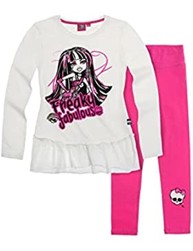 Monster High Mädchen Tunica mit Leggings - pink