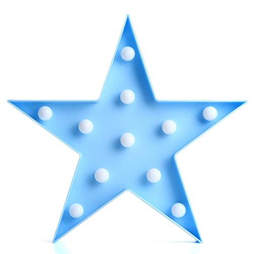 (LED-Licht, Cute LED fünfzackige Star Night Licht für Baby Kids Schlafzimmer Home Decor blau)