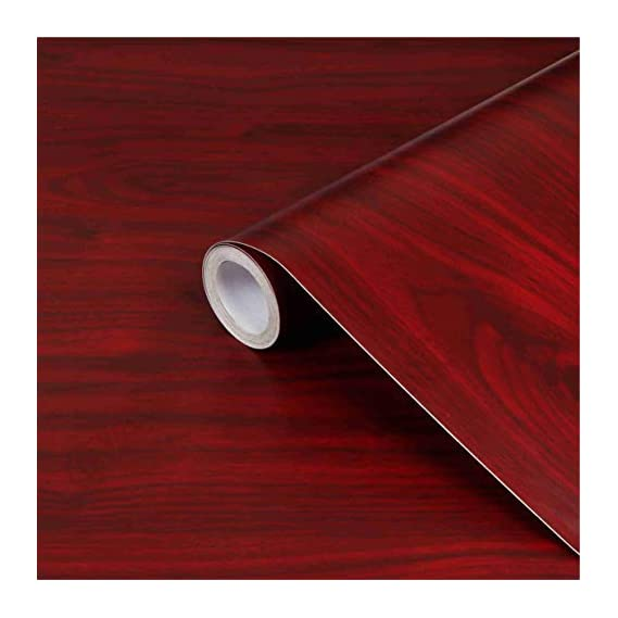CVANU? Self Adhesive Wood Grain Wallpaper Waterproof Old Furniture Vinyl Stickers Wooden Door Wardrobe Desktop PVC Wall Papers Cv312 12''x24''inch