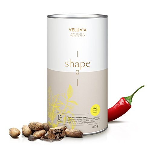 Veluvia Shape | einfach & gesund abnehmen| 375g Dose| Veganer Mahlzeitenersatz ohne Zusatzstoffe und Soja| 203 Kalorien pro Portion|