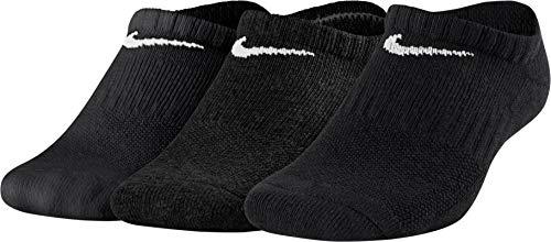 Nike Kids Performance Cushioned No-Show Everyday Cushion Sock, SX6843-010_S, Schwarz, m - Cushioned No-show-sport-socken