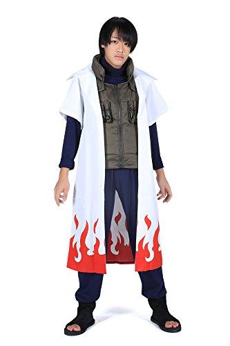 ACGCos Naruto Shippuden Yondaime Hokage Namikaze Minato Outfit 1st (Cosplay Kostüm Minato)
