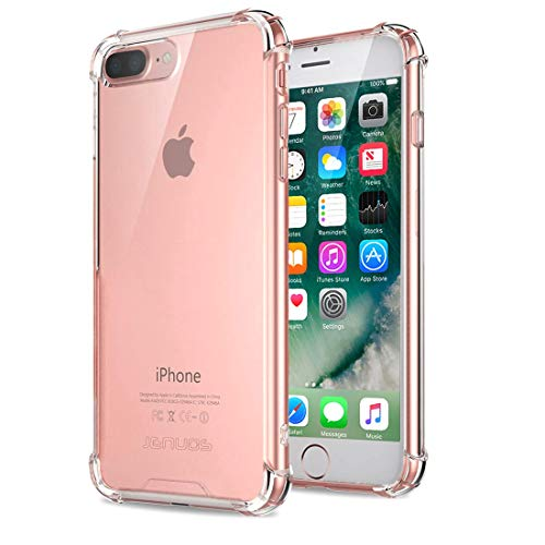 iPhone 8 Plus / 7 Plus Hülle, Jenuos Handyhülle Transparent Silikon Schutzhülle Crystal Clear Durchsichtige Hülle TPU Bumper Case für iPhone 8 Plus / 7 Plus 5.5