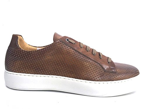Exton scarpa vera pelle microforato legno art. 514 (40)
