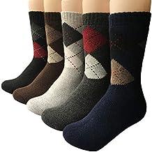 Vellette Calcetines termicos ricos en algodon para Hombre-Muje-Ideales para invierno EU 38