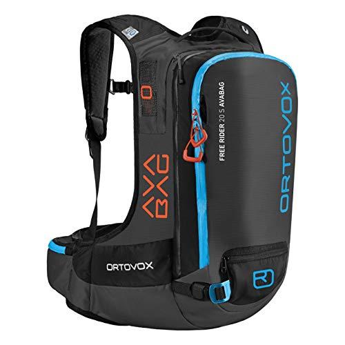 Ortovox Free Rider 20 S Avabag Kit - Zaini Unisex Adulto, Nero (Black Anthracite), 24x36x45 cm (W x H L)