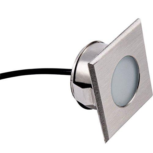 LED Bodeneinbaustrahler NÜRNBERG | Heitronic | eckiger Einbauspot | LED | warmweiß