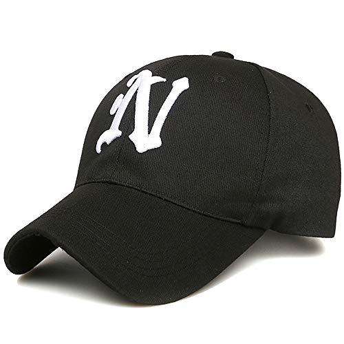 KFEK Paar Bestickte Baseballmütze Visor Curved Cap Cap Baseballmütze D1
