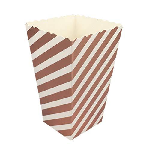 Toyvian Popcorn Favor Boxen Mini Papier Popcorn Taschen für Movie Night Party 50 Stücke 12 Stücke (Rose Gold)