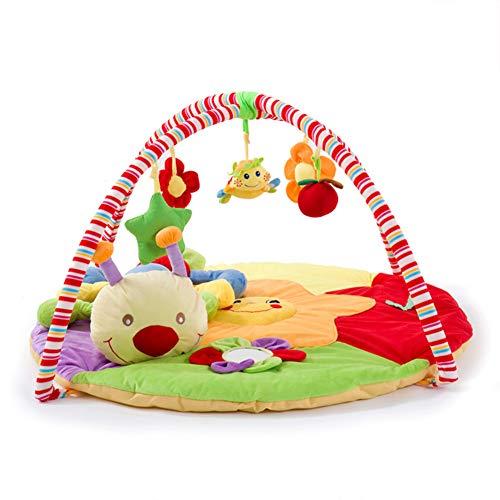 AIBAB Baby-Fitnessstudio Babyspieldecke Kriechende Matte des Spiels Lernspielzeug Raupenpuppe Super Weich 90 X 90 X 50 cm - Teppich Über 50 Läufer