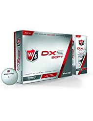 Wilson Staff Dx2 Soft - Bolas de golf, color blanco, 12 unidades