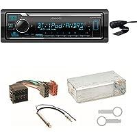 Kenwood KMM-BT305 AUX WMA USB Bluetooth MP3 WAV 1-DIN FLAC Autoradio Tuner AOA 2.0 Freisprecheinrichtung Einbauset f/ür Seat Ibiza 6L Arosa Cordoba