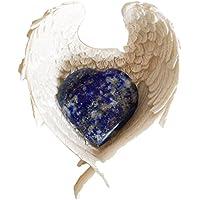 Reiki heilende Energie geladen klein Lapislazuli Kristall Herz (2,5cm) in weiß Engel Flügel Gericht preisvergleich bei billige-tabletten.eu