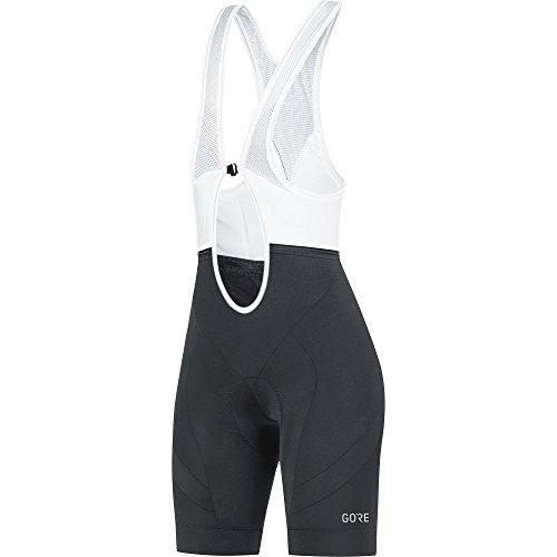 GORE Wear Atmungsaktive, kurze Damen Trägerhose, Mit Sitzpolster, C5 Women Bib Shorts+, 36, Schwarz, 100198