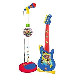 CLAUDIO REIG- Guitarra Y MICROFONO DE PIE Toy Story con Amplificador (Altura Regulable), Multicolor (5500)