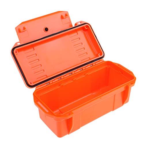 perfk Outdoor Werkzeugkiste leer stoßfest Werkzeugkoffer - Orange