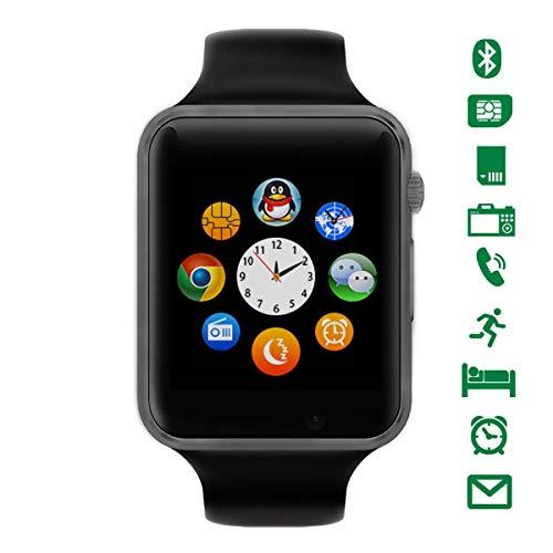 Bluetooth Smartwatch [Correa Suave], LATEC Reloj de Pulsera Deportivo con Pantalla táctil. smartwatch soporta Tarjetas SIM/Tarjetas TF (Micro SD), podómetro, para Android teléfonos Inteligentes