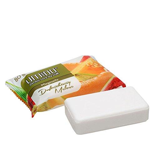 UMIDO Seife 80 g Melone - Hand-Seife - Waschstück - Seifenstück für ihre Körperpflege - Festseife - 1 x 80 g (4.)