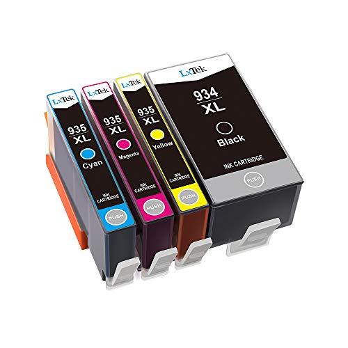 Hp Ergiebigkeit (LxTek Kompatibel Druckerpatronen Ersatz für HP 935XL 934XL 934 935 Patronen Hohe Ergiebigkeit für HP Officejet Pro 6230 6830 Officejet 6820 (1 Schwarz, 1 Cyan, 1 Magenta, 1 Gelb))