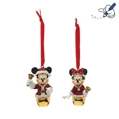 Unbekannt Mickey und Minnie Maus Festive Aufhängen Ornaments, offizielles Disney Weihnachten Ornament (Disney Chip Und Dale Kostüm)