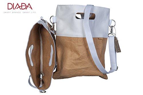 pap bag Amber, Sac pour femme à porter à l'épaule blanc Sand / weiß