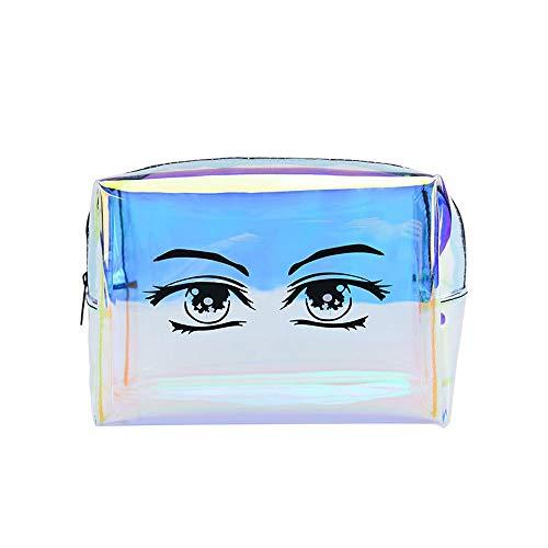 LYX Laser TPU Kosmetiktasche Wasserdichte Reise Aufbewahrungstasche Umweltfreundliche Mode Reißverschluss Handtasche Geeignet For Reise Kosmetiktasche Reißverschluss Urlaub Bad Organisation