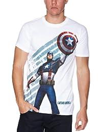 Captain America Star and Stripes Men's T-Shirt