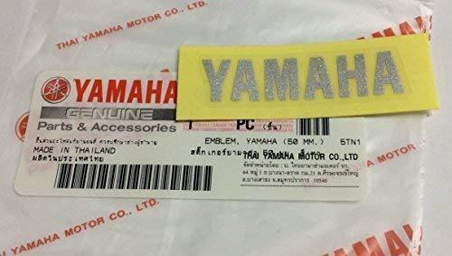 Marca Nuevo 100% Original Yamaha Pegatina Emblema LUZ Logo Plateado 50mm x 12mm Autoadhesivo MOTO /...