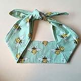 Bumblebee Ladies Headband - Mint Bees