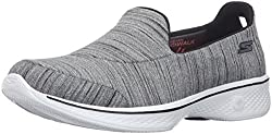 Skechers Performance Women s Go Walk 4 Satisfy Walking Shoe Black/White 10 B(M) US
