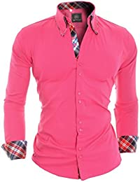 D&R Fashion Smart Shirt with Classic Collar Slim Fit Italian Design Various Colors