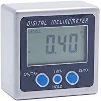 Dyna-living Digital Angle Finder LCD Digital Angle Gauge Precision Protractor Inclinometer Bevel Box for Helicopter//Bevel Angle of Miter Saw//Automobile Test and Repair