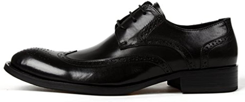 Zapatos Clásicos de Piel para Hombre Zapatos de Cuero para Hombres Ropa Formal para Negocios Estilo Británico...