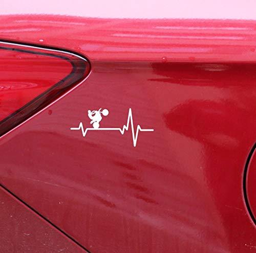 Aufkleber Dirt Bike Motorrad Reifen Wheelie Heartbeat Vinyl Auto Aufkleber A 16x7cm