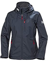 Helly Hansen W Crew Hooded Midlayer Chaqueta Impermeable, Cortavientos y Transpirable, con Capucha, Mujer, Azul (Marino), S