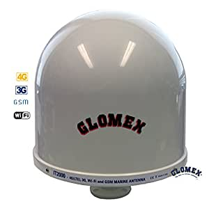 Glomex IT2000 Marine Wifi ANTENNE INTERNET OMNIDIRECTIONNELLE quadri bande (LTE, 3G/UMTS, WIFI et GSM) - 360° omnidirectionelle - pour des bateaux à voiles que sur les bateaux à moteur
