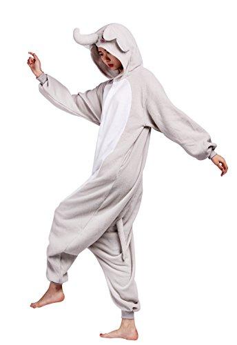 Wamvp Unisex Adulto Cosplay Costume Animale Pigiama Sleepwear Kigurumi Pigiama Grigio