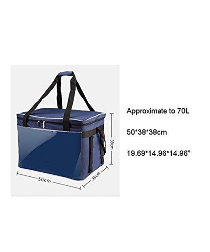 LIQICAI Handliche Kühlbox Isolierte Mittagessen Tasche Picknick Cool Tasche für Männer und Frauen-5 Größen erhältlich ( größe : 70L )