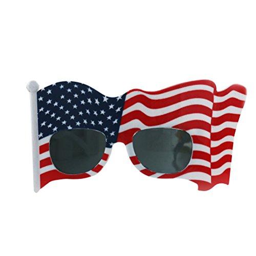 BESTOYARD Amerikanische Flaggen-Sonnenbrille-lustige USA-Patriot-Flaggen-Gläser, die Gruppe Props Party Eyewear zujubeln