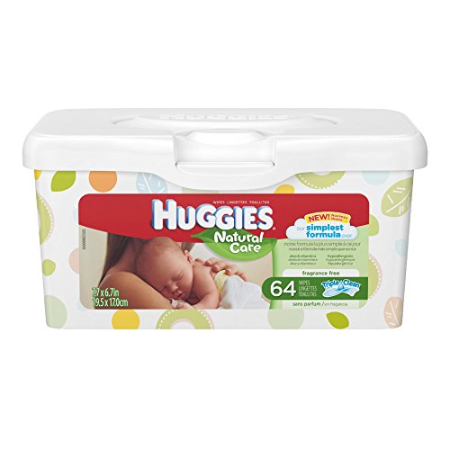Huggies Natural Care Unscented Baby Wipes Tub - 64ct by Kimberly-Clark