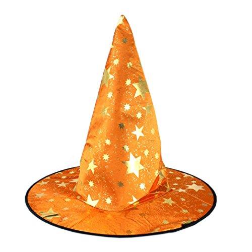 HCFKJ 2017 Mode Halloween 1Pcs Monolayer Frauen Hexe Hut FüR Halloween KostüM Accessoire (orange)