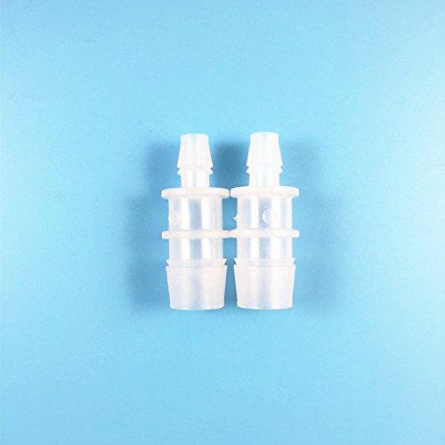 2ST Aquarium-Filter-Wasser Reducers Adapter Steckverbinder-Schlauchleitung -Rohr Reducer 16mm bis 8mm (2 Reducer)