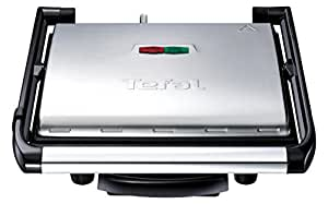 Tefal GC241D40 Inicio Grill, 2000 W, Stainless Steel