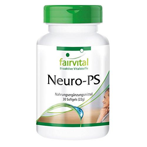 Neuro-PS - HOCHDOSIERT - 30 Softgels - Phosphatidylserin aus Soja-Lecithin - 300 Mg 30 Softgels