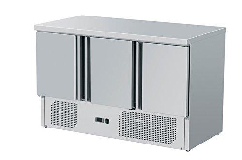 Zorro - Kühltisch ZS903 - 3 Türen - Gastro Saladette mit Arbeitsfläche - R600A - Digitales Thermostat