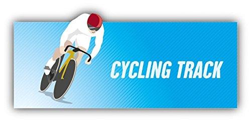 Cycling Track Olympic Sport Hochwertigen Auto-Autoaufkleber 15 x 8 cm